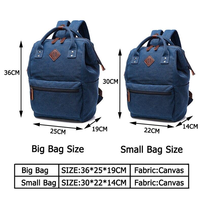 Image 4 - Mochila Feminina College Backpacks Fashion Women Canvas Backpack Shoulder Bag School Bag Teenage Knapsack for Girls Sac A DosBackpacks   -