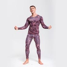 Men Underwear Set  thermal underwear Sportswear suit Compression Quick-drying Tights Sport Thermal