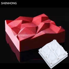 SHENHONG TRIANGULATION 3D Cake Moulds For Ice Creams Chocolates Cake Mold Pan Bakeware Accessories Geometric shapes(China)