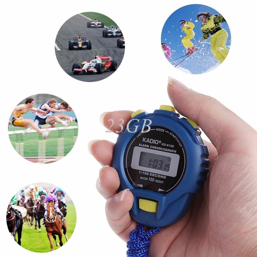GroßZüGig 2017 Neue Handheld Digital Lcd Sport Stoppuhr Chronograph Zähler Timer W/strap May02_20 Messung Und Analyse Instrumente Werkzeuge