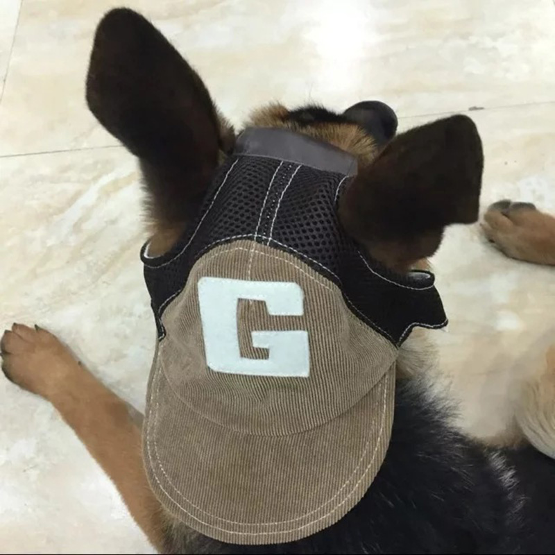 9416c003136 JORMEL Pet Dog Outdoor Baseball Cap Hat With Ear Holes Canvas Small Dog Cap  Hat Summer Accessories Hiking-in Dog Caps from Home   Garden on  Aliexpress.com ...