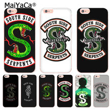 MaiYaCa tv riverdale SouthSide Serpent Transparent Cover Case for Apple iPhone 8 7 6 6S Plus X 5 5S XS XR XSMAX Mobile Cases(China)