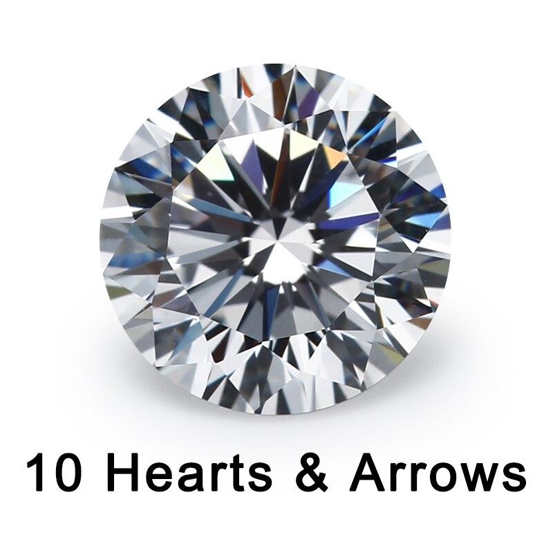 10 Herzen Und 10 Pfeil Cut 4 ~ 10mm Lose Cz 5a Qualität Weiß Zirkonia Kristalle Perlen Stein Synthetische Edelstein Moderne Techniken