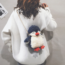 Игрушек! Супер милая плюшевая игрушка мультфильм Забавный Пингвин Мягкая кукла сумка через плечо сумка Девочка День рождения Рождественский подарок 1 шт