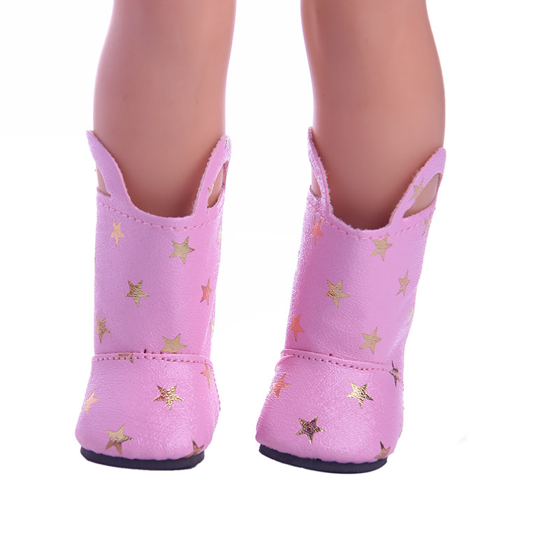 Pink Venus Boots for 14.5inch Wellie Wisher doll  ,Doll accessories