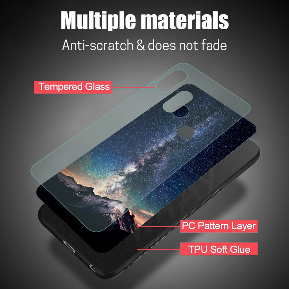 Phone Glass Case For Huawei Nova 3 2i Coque Silicone Luxury Case For Huawei P20 Pro Honor Play 7A 9 Mate 10 Lite P Smart Y6 2018 (4)