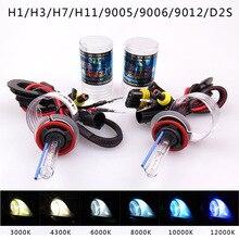 2 шт. 35 Вт/55 Вт Ксеон D2H HID переделочный комплект H1 H7 H11 9005 лампа для автомобиля фар лампа 3000 k 4300 K 6000 k 8000 K 12000 K