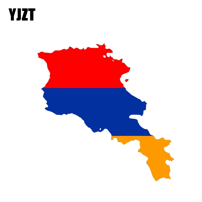 YJZT 13.6CM*6.6CM Personality Armenia Flag Car Sticker Reflective Decal Car Styling 6-0842