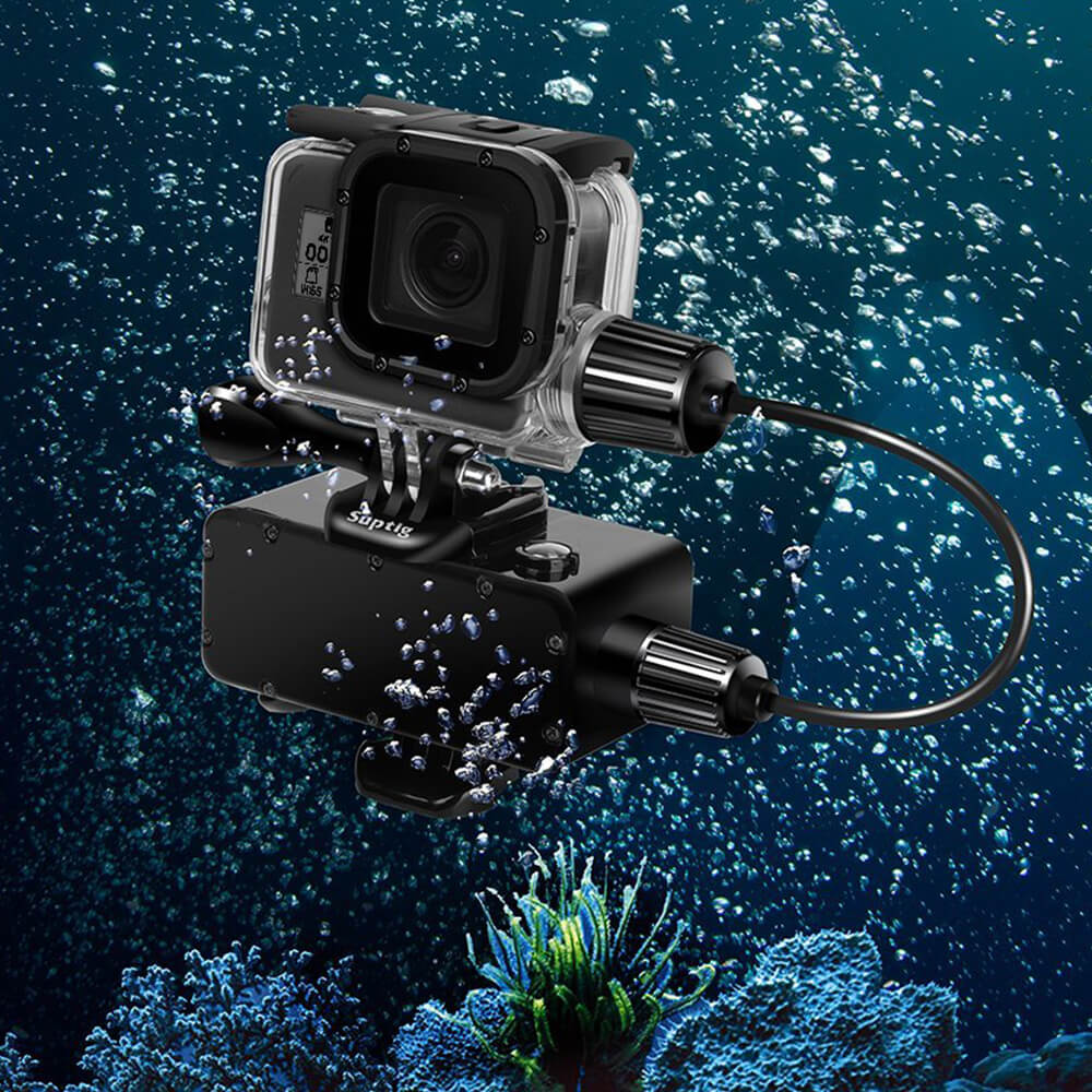 5200mAh Waterproof Power Bank Underwater Battery For GoPro Hero 5/6/2018 W/ Waterproof Charging Housing Case For GoPro Hero 5/ 6 kinston kst91872 ladybug petunia w rhinestones pattern pu case w stand for iphone 6 multicolored