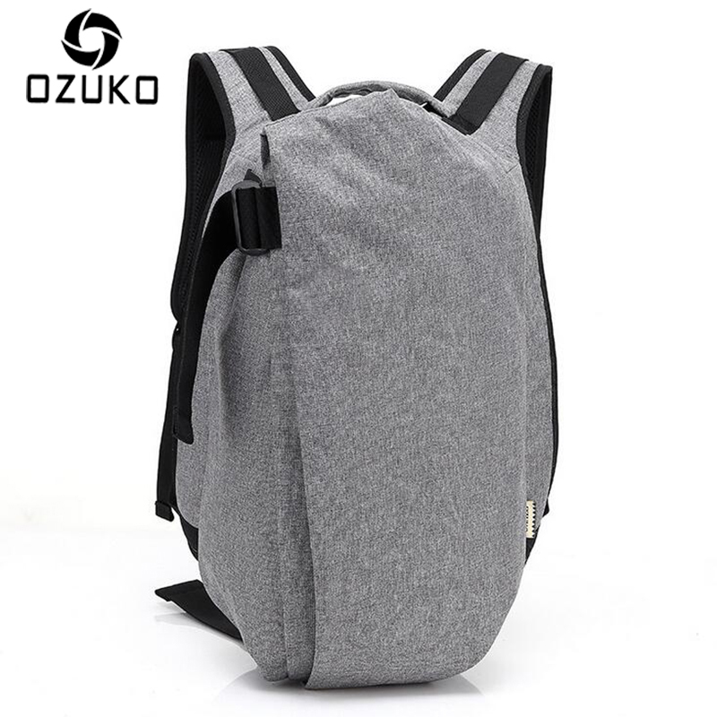 купить OZUKO Fashion Men Backpack Anti-theft Rucksack School Bag Casual Travel Waterproof Backpacks Male Laptop Computer Bag Mochila онлайн