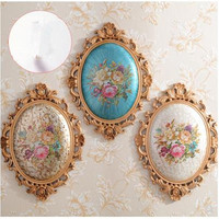 Vintage European classical wall hangings crafts, wall decoration murals, dining room bedroom decorations