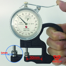 0-5mm (0.001mm)  Mechanical Micrometer Gauge / Dial Thickness Gauge For Film,Paper
