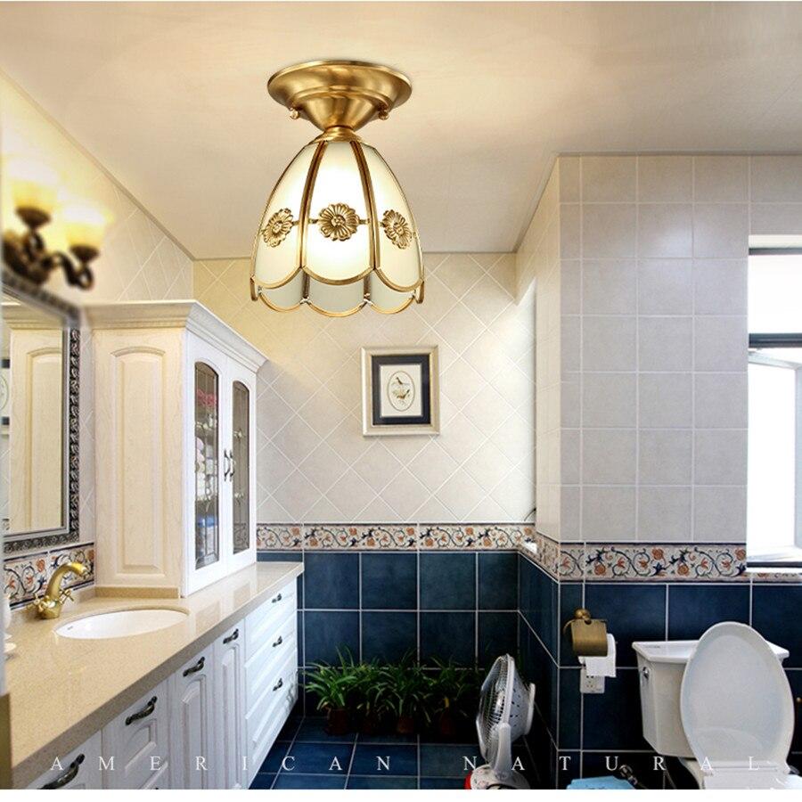 Idee Salle De Bain Baignoire Ilot ~ belle cuivre plafond mont lampe e27 led ampoule d or couleur pour