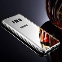 Roc Joan Luxury Mirror Metal Alloy Case For Samsung Galaxy S8 Plus 2 In 1 Hard