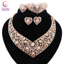 Statement necklace with earrings bracelet Jewelry sets Trendy Boho crystal women necklace for party wedding Hot sale 2017