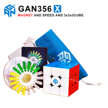 GAN356 X 3x3x3 Magnetic Magic Speed Cube Professional Stickerless Gans 356X Magnets Puzzle Cubo Magico Gan 356 X Toys For Kids все цены