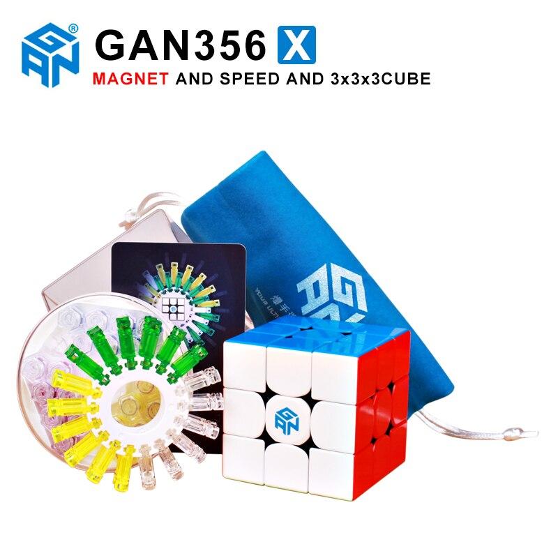 GAN356 X 3x3x3 Cube de vitesse magique magnétique Gans 356X aimants professionnels Puzzle Cubo Magico Gan 356 X jouets pour enfants