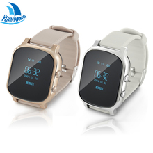 OLED Screen,T58 GPS AGPS Tracker Anti Lost Watch for Kids Children Student Smart Watch Bracelet with SOS GSM for Android Iphone