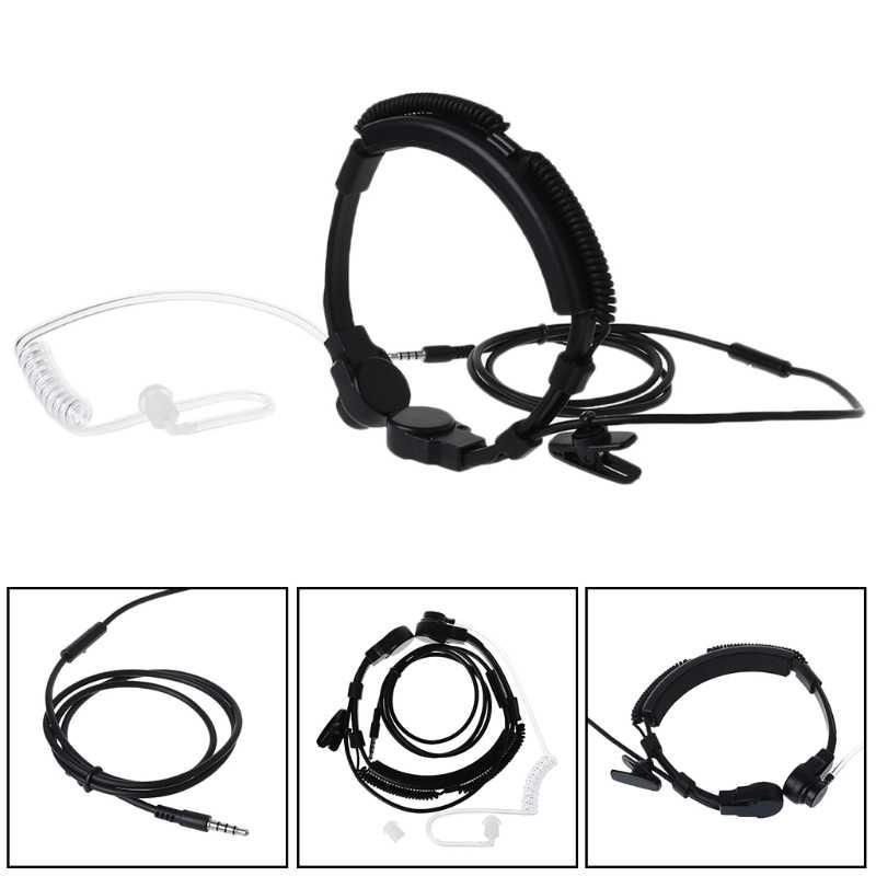 Auriculares de tubo acústico para teléfono con micrófono táctico ALITER de 3,5mm
