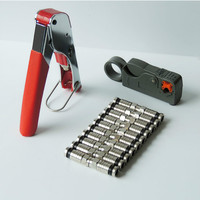 1 Set Coaxial Cable Wire Stripper RG6 RG59 Compression F Connector Tool Crimping Pliers Wire Stripping
