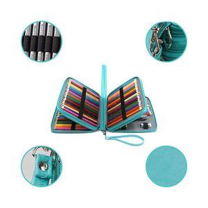 Image 5 - Горячая Распродажа, 168 слотов, супервместительная Сумка ручка с ремешком на молнии для акварельных карандашей призмаколор, цветные карандаши
