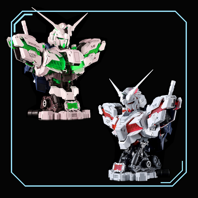 Yihui 30 cm 1/35 licorne Avatar buste buste modélisation Gundam modèle peut être illuminé et état d'éclatement figurine indéformable jouet
