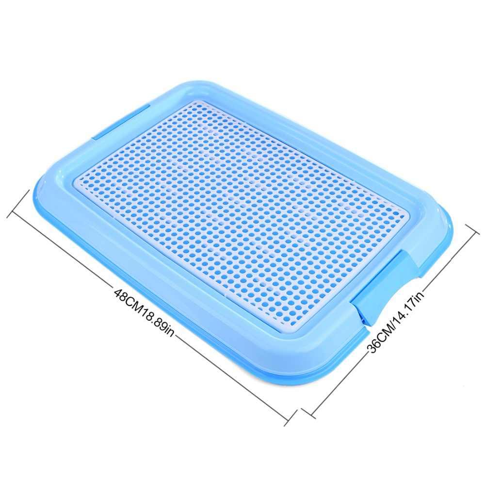 Petforu Крытый туалет для домашнего животного собаки тренировочный чистящий коврик пластиковый питомец туалетный лоток коврик для животных-синий