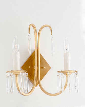 Американский Кристалл Бра спальня прикроватный светильник Настенный светильник Nordic антикварной французской исследование коридор лампа