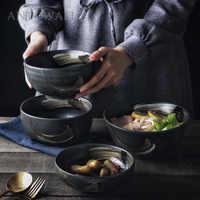 ANTOWALL корейский стиль ретро Керамическая Посуда бытовая чаша для риса большая миска для супа с лапшей Персонализированная миска для рестора...