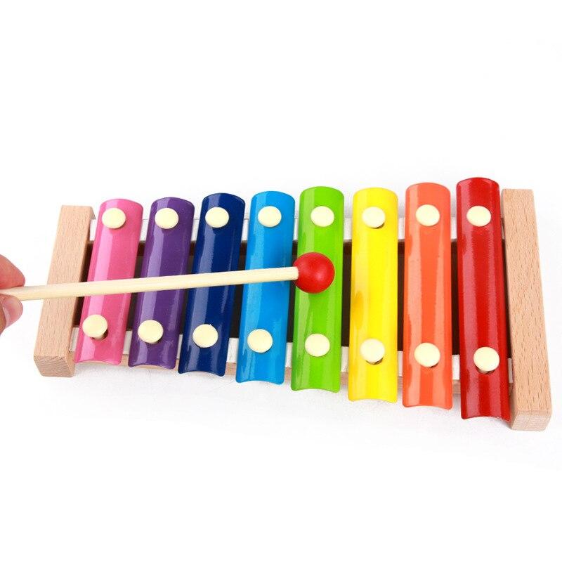 Baby Muziek Speelgoed Houten Frame Stijl Xylofoon Muziekinstrumenten Voor Kinderen Kids Funny Educatief Speelgoed Zeer EfficiëNt Bij Het Behouden Van Warmte