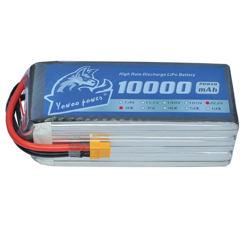 YOWOO Lipo 6S Battery 10000mah 22 2V XT60 Per RC Bateria 30c MAX 60c For Drone