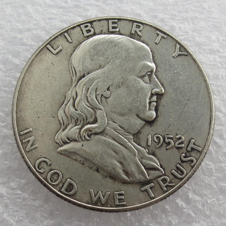 1952 P S D Franklin Silver Half Dollar 90% silver or silver plated copy coins High Quality