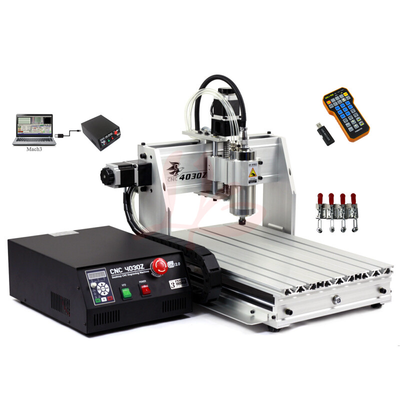 CNC machine 4030 Z-800W USB 3axis cnc router engraver for aluminum wood pcb drilling and milling 4 axis cnc machine cnc 3040f drilling and milling engraver machine wood router with square line rail and wireless handwheel