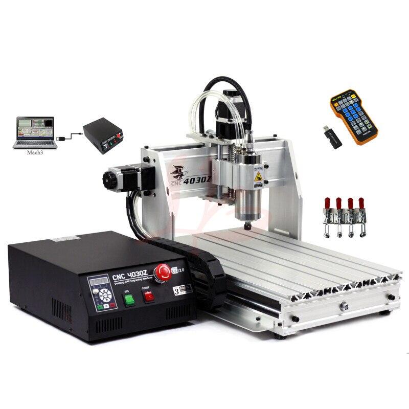 Machine à CNC 4030 Z-800W USB 3 axes CNC routeur graveur Er11 pince avec fin de course pour aluminium bois pcb forage et fraisage