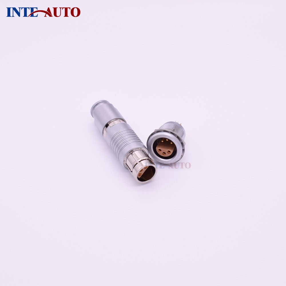 Equivalent china Lemo circular metal push pull connector,6 pins plug and socket,half-moon insulator,FFA.2S.306 ERA.2S.306 lemo 1b 6 pin connector fgg 1b 306 clad egg 1b 306 cll signal transmission connector microwave connectors