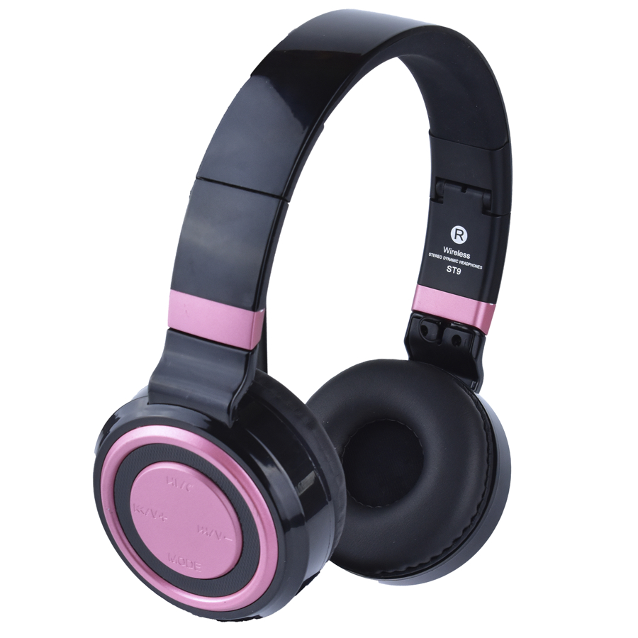 Pink New year 2018 Bluetooth headphone sport bass 3.5 mm TF FM radio for laptop phone PC best headphone wireless with mic 7 hd 2din car stereo bluetooth mp5 player gps navigation support tf usb aux fm radio rearview camera fm radio usb tf aux