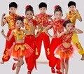 Традиционный Китайский Танец Костюм Дети Национальный Выполняют Танец Боевых Искусств для Девочка и Мальчик Кунг-Фу Костюм Танец