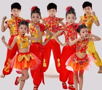 Traditional Chinese Dance Costume Children National Performing Dance Martial Arts For Girl And Boy Kung Fu