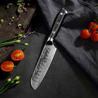 "Sunnecko 5""/7"" Santoku Chef Knife Kitchen Knives Japanese Damascus VG10 Steel Razor Sharp Blade Meat Cutting Tools G10 Handle"