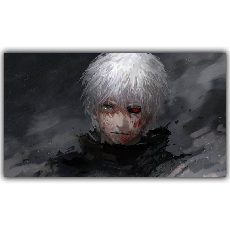 New Tokyo Ghoul Ken Silk Canvas Wall Decoration Poster Boys and Girls Bedroom Decoration Cartoon Wallpaper DM518