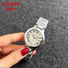 New Contena 2017 Fashion Casual Clock 4 colour classic Watches Women's elegant Quartz Wrist Watch relojes mujer
