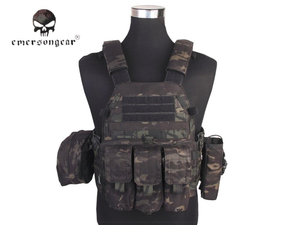 Emersongear Lbt6094a Stijl Tactical Vest Met 3 Zakjes Jacht Airsoft Militaire Combat Gear Multicam Black Em7440mcbk