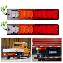 1 pair ATV Truck Trailer Lamp LED Stop Rear Turn Indiactor Tail Brake Reverse Light Fit for Trailers, Trucks, Utes, Boat