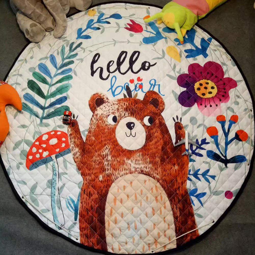 HTB1ub5sKXmWBuNjSspdq6zugXXal Kids Play Rug Cute Cartoon Bear Rug Backing Great For Nursery Baby,Parfect Gift For Kids Bedroom Play Room Classroom