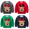 Menino outerwear engrossar velo camo camisola Do Natal alces inverno além de veludo das crianças da roupa do bebê da criança top pullover
