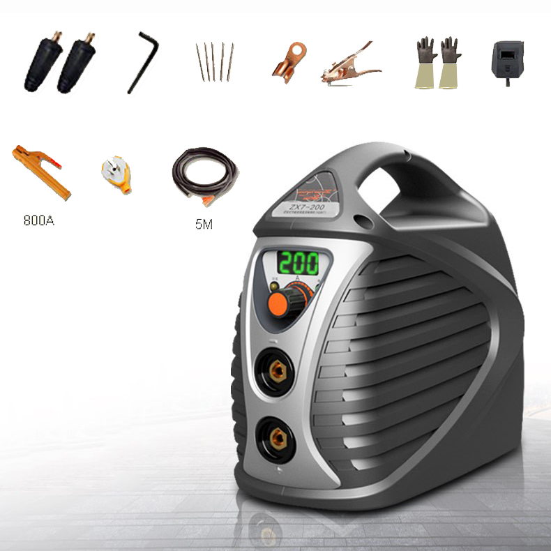 ZX7-200MINI Handheld MMA Welder IGBT AC 220V Portable Arc Welding Home Welding Cool Fashion Welding new high quality welding mma welder igbt zx7 200 dc inverter welding machine manual electric welding machine