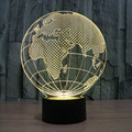 3D LED Desk Table Lamp Earth Lighting 7 Colors Changing Night Light for Bedrooms, Living Rooms, Office and Study Rooms Best Gift
