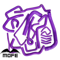 MOFE 20PCS Coolant Silicone Radiator Hose Kit For Nissan R33 Skyline GTST RB25DET 2 5T Purple