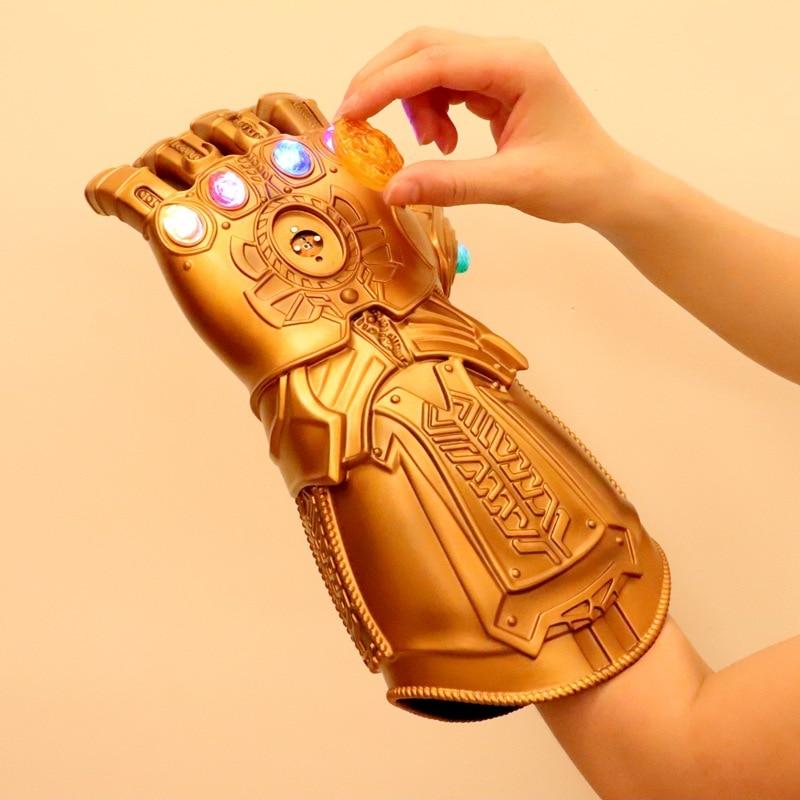 Avengers: Endgame Thanos Infinity Gauntlet Gloves Stone Movable Led Light Infinity War Glove Avengers Thanos Glove Hand Wear