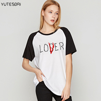 Movie It Losers Club Brand Clothing Summer Women Tshirts Lover Plus Size Tee Shirts Pennywise Hipster